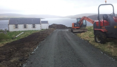 July 2013 - upgrading the access road